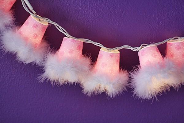 Sweetheart Plastic Cup String Lights @amandaformaro Crafts by Amanda