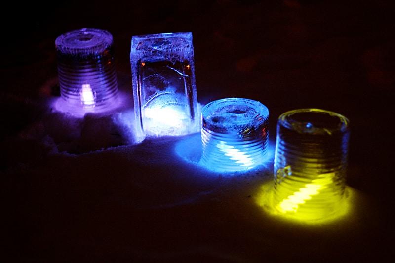 glow in the dark ice luminaries