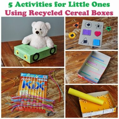 5 Cereal Box Projects for Toddlers @amandaformaro Crafts by Amanda