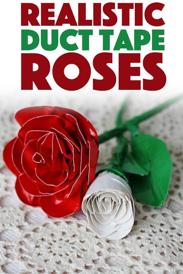 Duct Tape Roses DIY