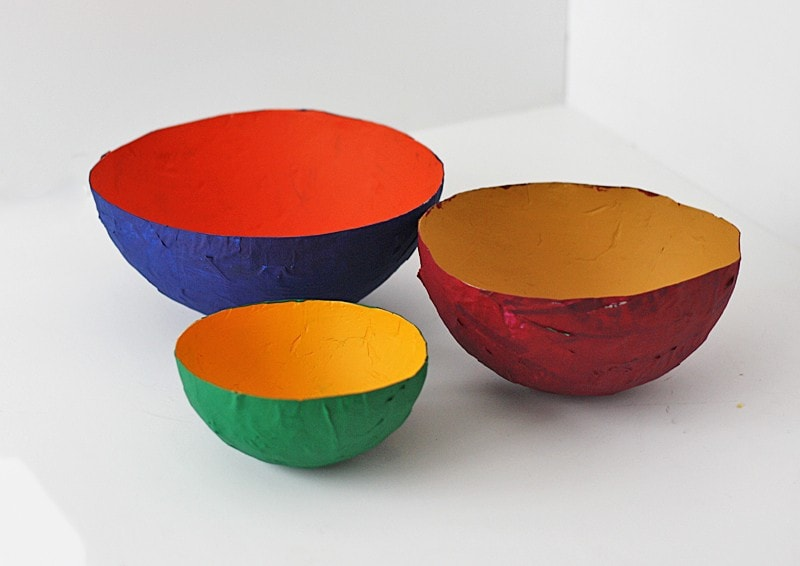 Paper Mache Bowls For The Game Crafts By Amanda