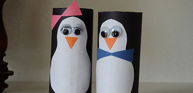 Cardboard Tube Penguins