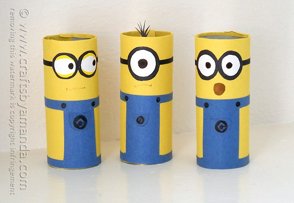 photograph relating to You Re One in a Minion Printable identified as Cardboard Tube Minions: an cute and simple minion craft!