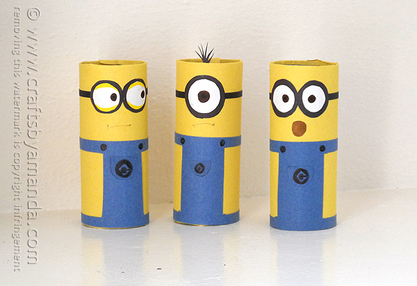 Cardboard Tube Minions An Adorable And Easy Minion Craft