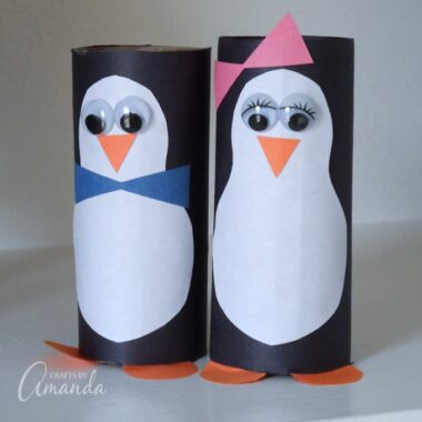 cute cardboard tube penguins