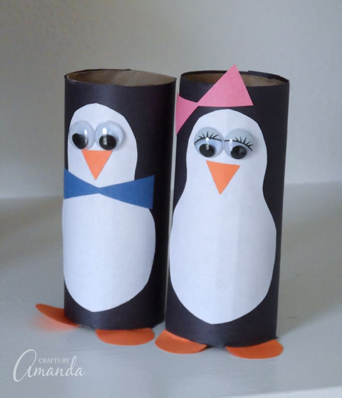 cardboard penguins