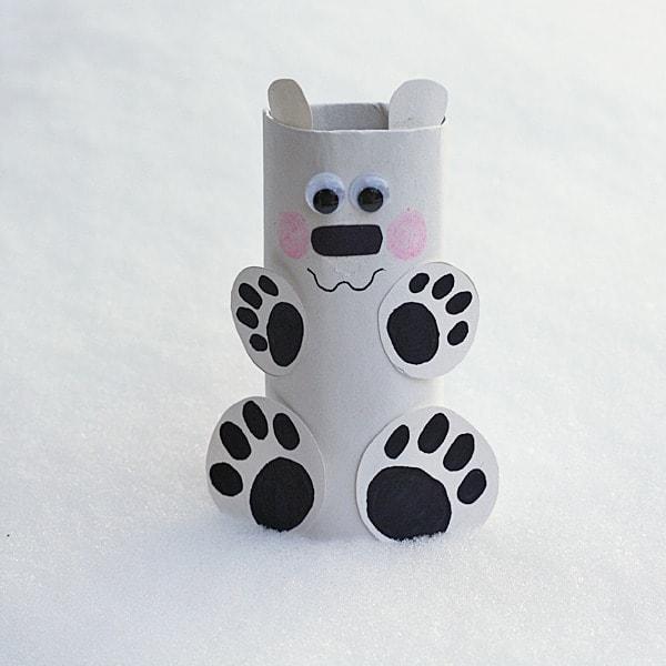 cardboard tube polar bear 600