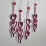 Cardboard Tube Dangling Hearts