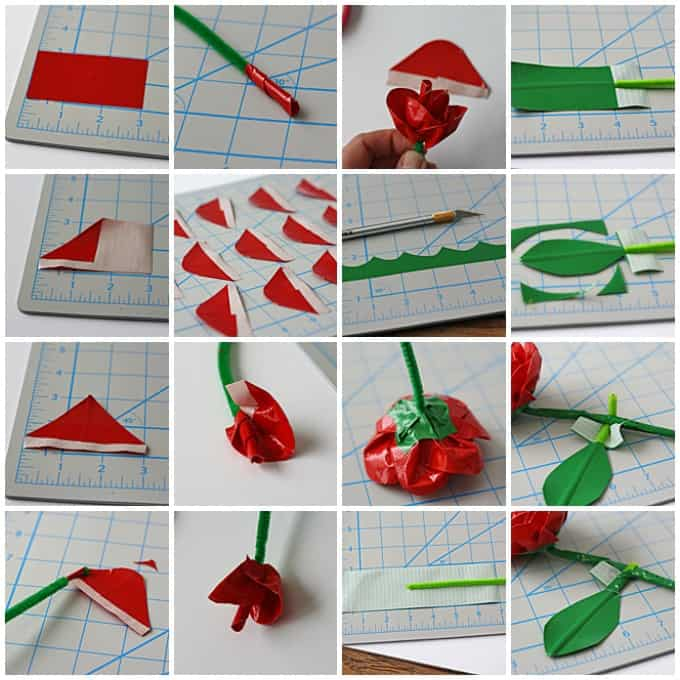 Realistic duct tape roses crafts by amanda