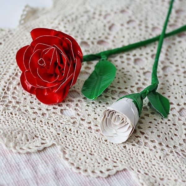 Realistic Duct Tape Roses @amandaformaro Crafts by Amanda