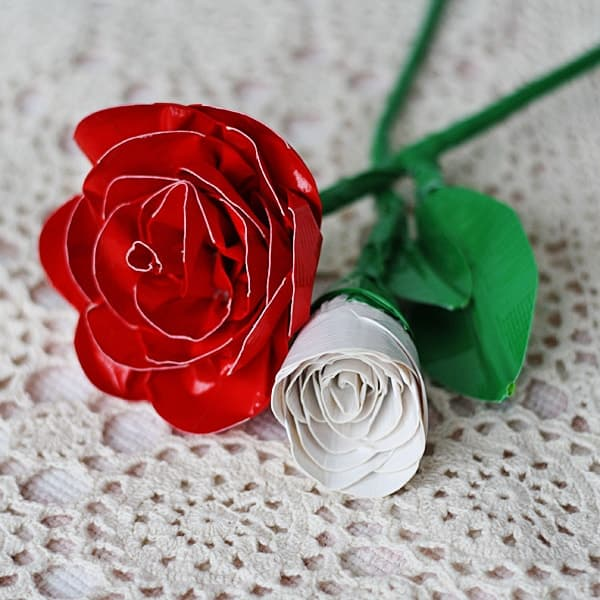 Roses made from duct tape