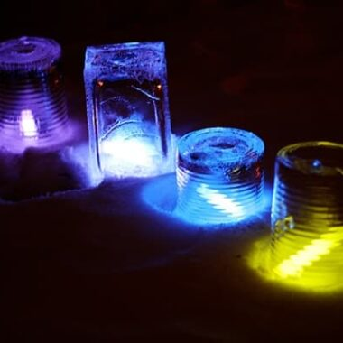 Glow Stick Ice Luminairies @amandaformaro Crafts by Amanda