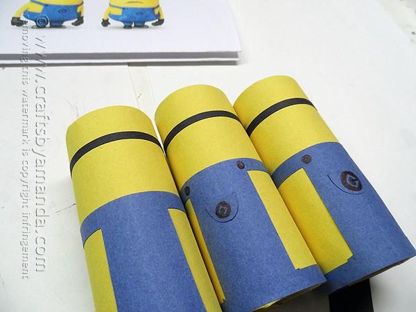 Cardboard Tube Minions by @amandaformaro Crafts by Amanda