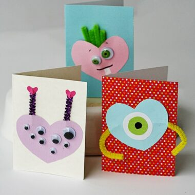 Monster Valentines @amandaformaro Crafts by Amanda