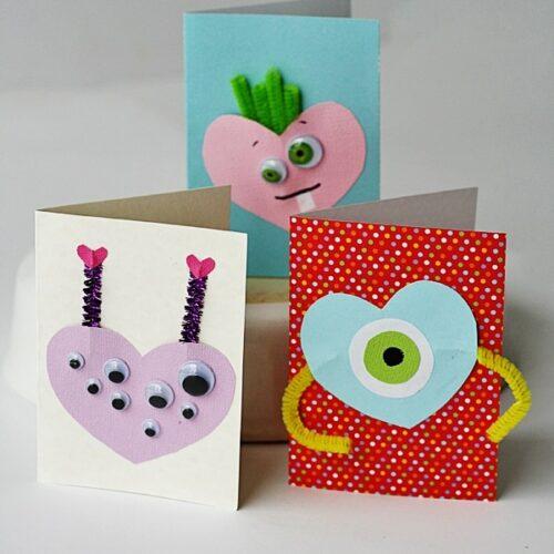 Monster Valentines @amandaformaro Crafts by Amanda