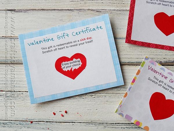 Scratch Off Valentine Gift Certificates by @amandaformaro Crafts by Amanda