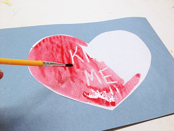 Painting secret message valentines
