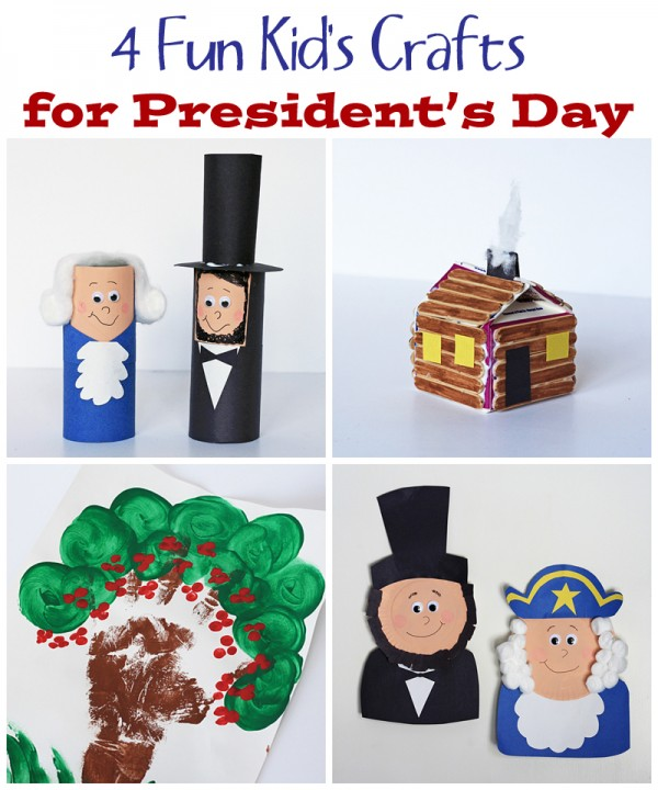 4 Fun Crafts for Presidents' Day by @amanda formaro Crafts by Amanda