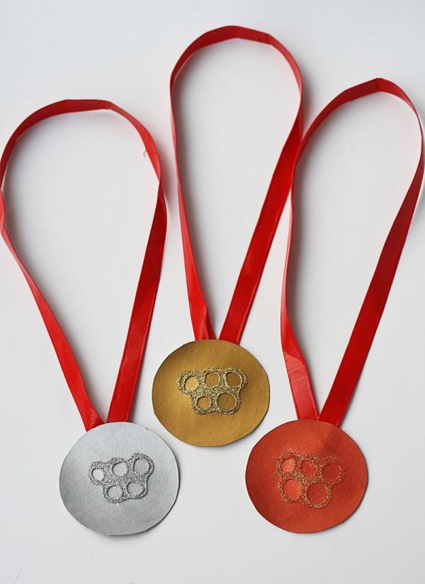 Medalhas Cereal Box Olímpicos Craft @ amandaformaro Crafts por Amanda