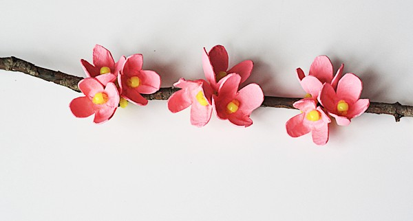 Egg Carton Cherry Blossom Branch @amandaformaro Crafts by Amanda