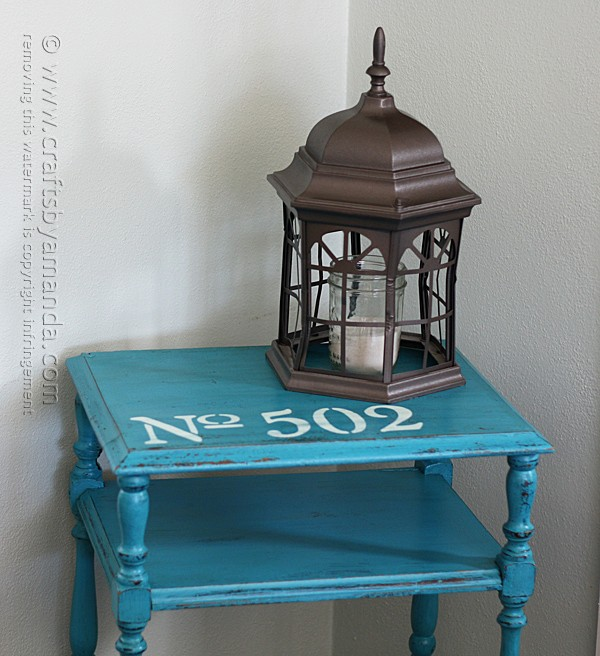 Stenciled Chalky Finish Table Makeover by @amandaformaro Crafts by Amanda
