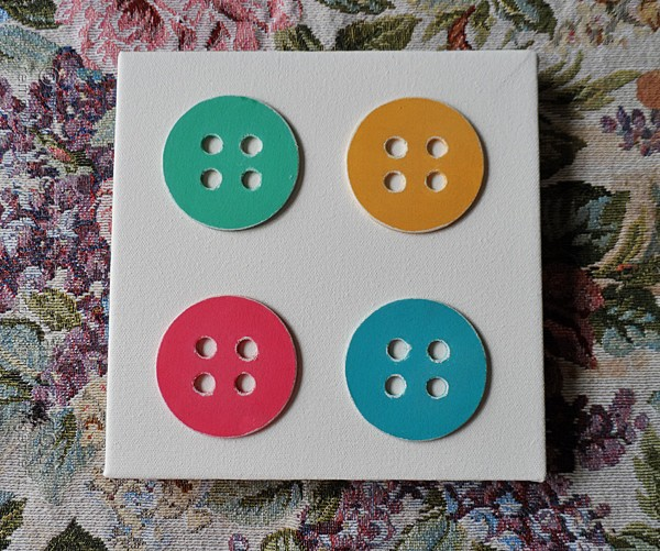 Buttons on Canvas by @amandaformaro Crafts by Amanda