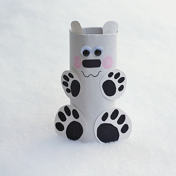 Cardboard Tube Polar Bear