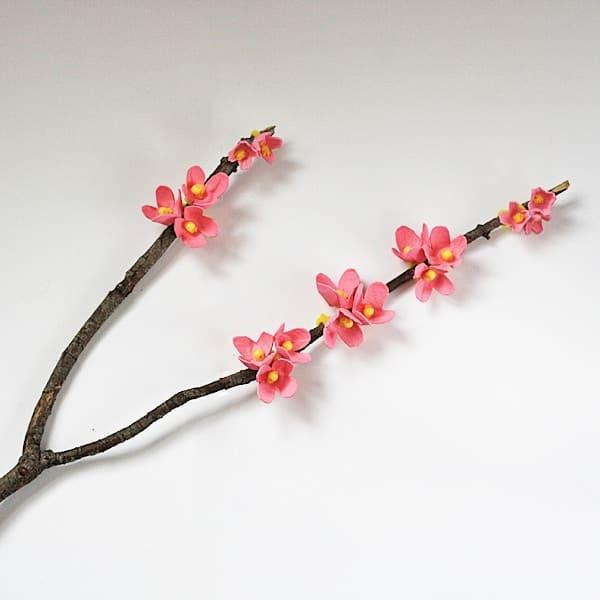 Egg Carton Cherry Blossom Branch