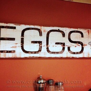 Vintage Egg Sign @amandaformaro Crafts by Amanda