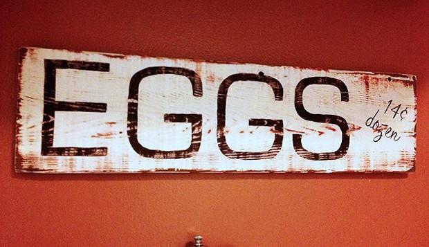 Vintage Egg Sign
