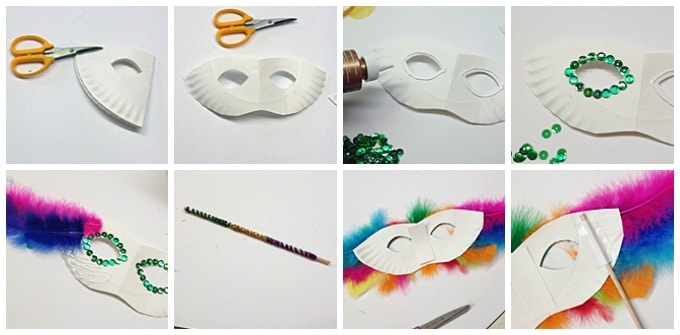 FEATHERY MASK FOR MARDI GRAS