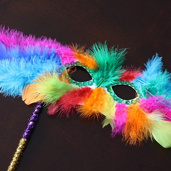 Mardi Gras Feather Mask @amandaformaro Crafts by Amanda