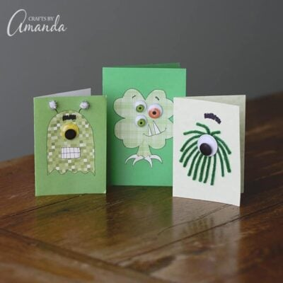 These monster cards are great to mail off to grandparents, hand them out at school, give to neighbors or a sweet little card to give to their teachers.
