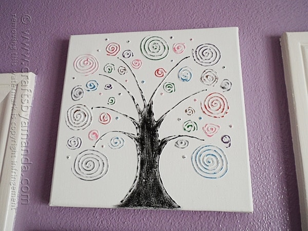 craft ideas with canvas swirl tree on canvas crafts by amanda 3967