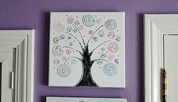 Swirl Tree on Canvas