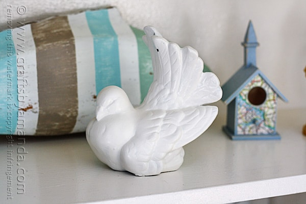 Thrift Store Ceramic Bird Makeover @amandaformaro Crafts by Amanda