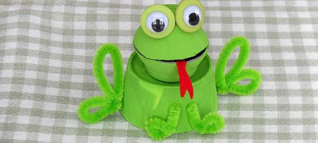 Egg Carton Frog