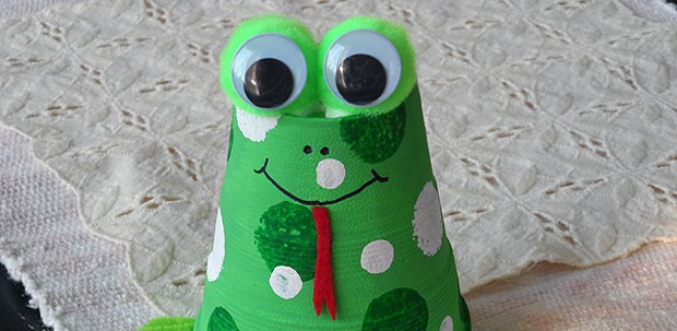 Foam Cup Frog Craft Crafts By Amanda