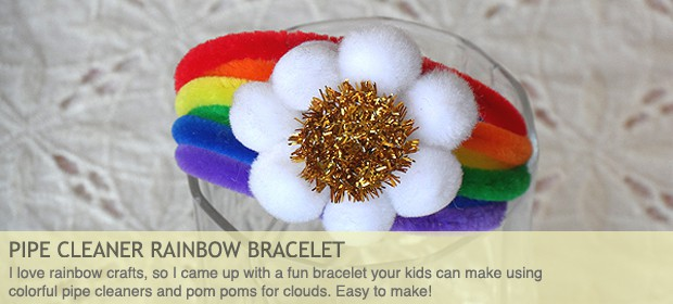 Pipe Cleaner Rainbow Bracelet