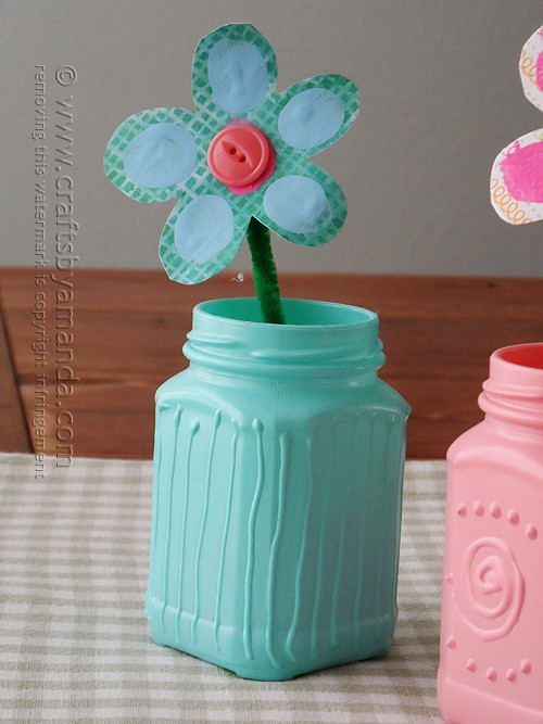 So very pretty! I love the textured look on these spring jars, and the tutorial looks pretty easy!
