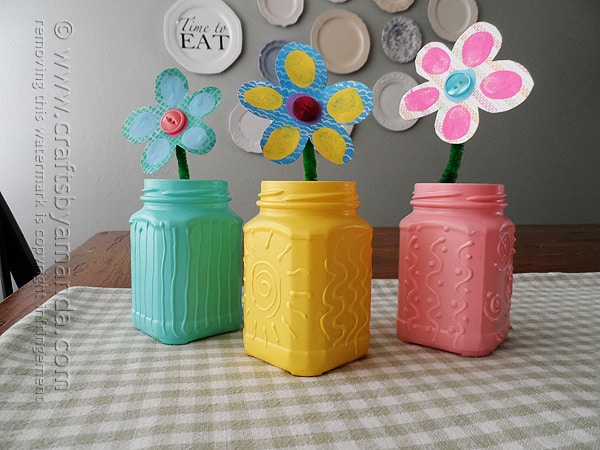 These recycled jars are so pretty! Perfect for spring or Easter, I can see using this 3D effect on a lot of projects!