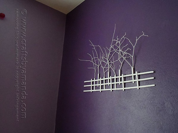 This Stick Tree Silhouette from Crafts by Amanda looks awesome against a dark wall. And it's made from twigs and craft sticks!!