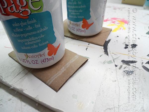 flatten the cardboard tubes