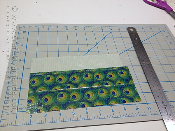 then make the other side of the duck tape sheet