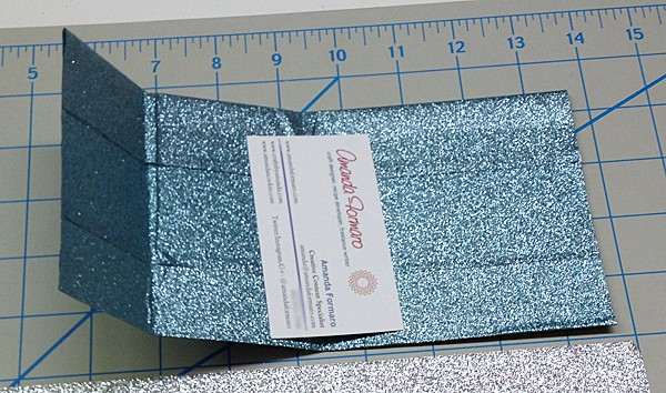 Fold up the pockets of the duck tape sheet