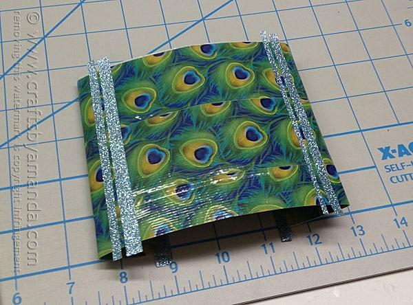 add glitter duck tape stripes to the duck tape sheet
