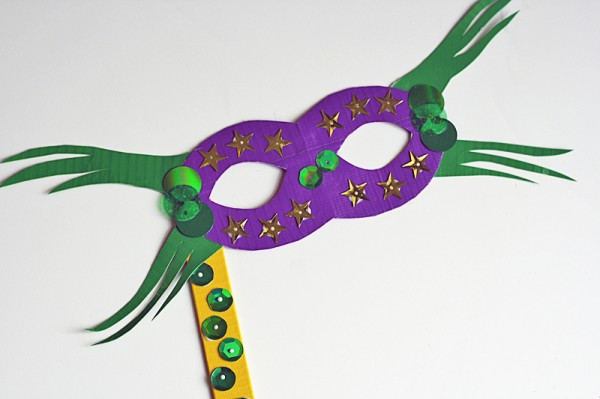 Duct Tape Mardi Gras Mask Crafts By Amanda
