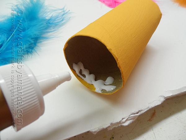 Cardboard Tube Featherheads - Crafts by Amanda @amandaformaro