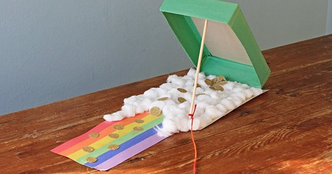 cereal box leprechaun trap craft