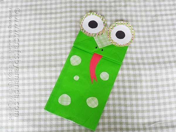 Paper Bag Frog Puppet - Crafts by Amanda